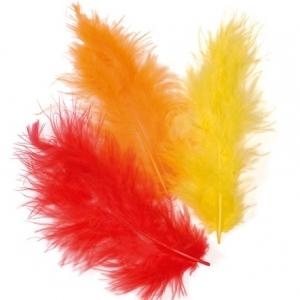 Набор перьев марабу