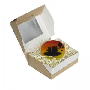 Удобная и оригинальная коробочка в эко-стиле.