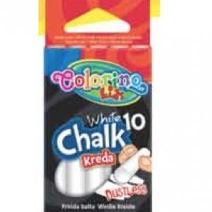 Colorino Беспылевой белый мел, 10 шт
