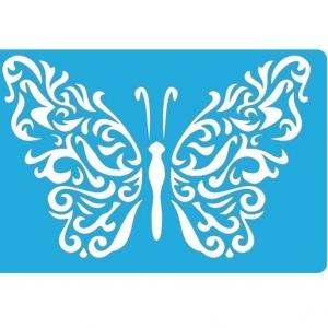 Трафарет «Бабочка Завитки 1»