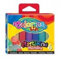 Набор пластилина  с глиттером COLORINO 6цв