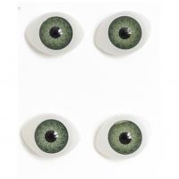 Глазки объемные, зеленые