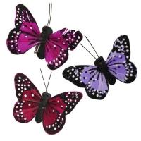 Бабочки с клипсой ,ассорти