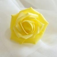 Цветок розы, желтый