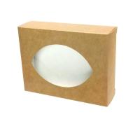 Упаковка Коробка с окошком крафт ( коричневая)