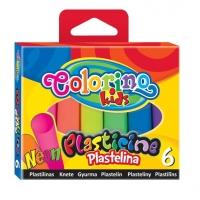 Набор пластилина COLORINO неоновый 6цв.