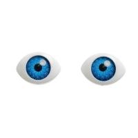 """Глазки клеевые """"овал"""" голубой"""