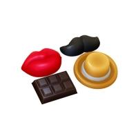 Декор Усы, Губы, Шоколадка