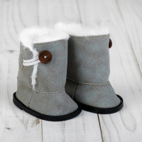 Сапоги для куклы «Пуговка» ,цвет серый