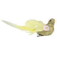Птичка с клипсой, золотой