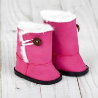 Сапоги для куклы «Пуговка» ,цвет розовый