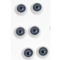 Глазки объемные, круглые , серые