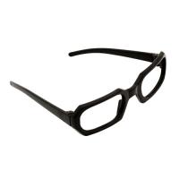 Очки без стекла , пластик, прямоугольные, черный