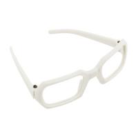 Очки без стекла , пластик, прямоугольные, белый
