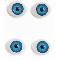 Глазки объемные, голубые