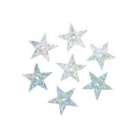Пайетки 'звездочки' серебро голограмма
