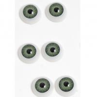 Глазки объемные, круглые , зеленые