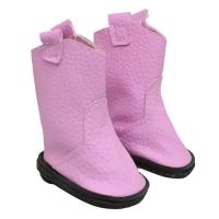 Сапоги для куклы,цвет розовый