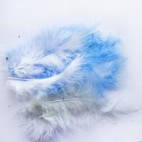 Перья Голубые и белые 12 см