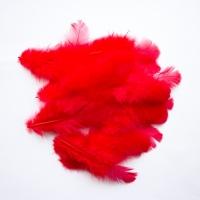 Перья Красные 8 см
