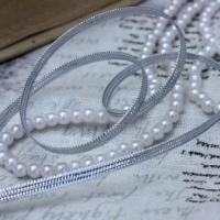 Шнур декоративный серебро