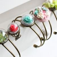 Набор браслет со стеклянным украшением