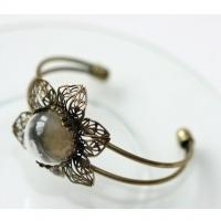 Набор браслет-ЦВЕТОЧЕК со стеклянным украшением