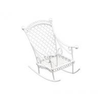 Металлическое мини кресло-качалка белое