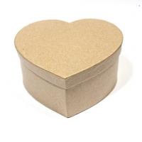 Заготовка коробки из папье-маше СЕРДЦЕ