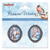 Русская зима. Дед мороз и снегурочка