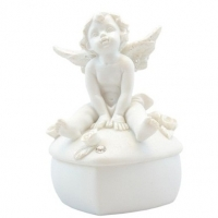 Шкатулочка с сидящим ангелом -3