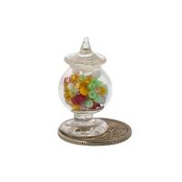 Стеклянная вазочка с крышкой и наполнением