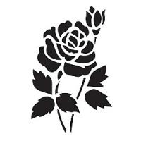 "Трафарет ""Куст роз"""