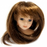 Волосы для кукол  (прямые) темные