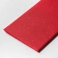 Бумага тишью с блестками , красный