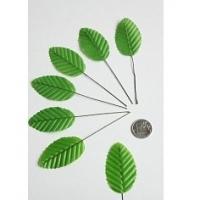 Листики декоративные на веточке, зеленый
