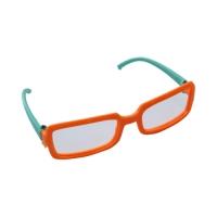 Очки пластиковые, цв. оранжево-зеленый