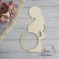 Беременная с окошком