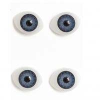 Глазки объемные, серые