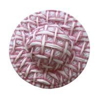 Шляпка соломенная розовый