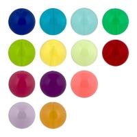 """Бусины акриловые, цветные, эффект """"желе"""", круглой формы."""