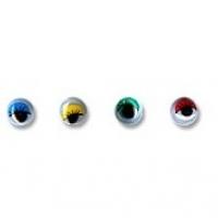 Глаза круглые с бегающими зрачками цветные