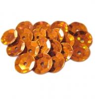 Пайетки  оранжевый голография