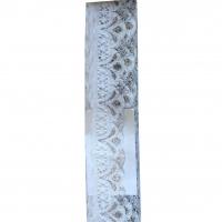 Кружево  белое серебро с люрексом