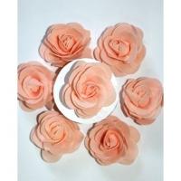 Цветок розы декоративной, светло-персиковый 1 шт