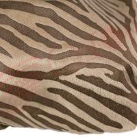 Ткань-плюш Зебра (бежевый)