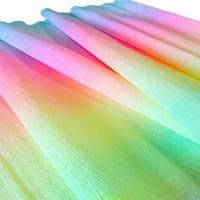 Гофрированная бумага в рулонах радужная