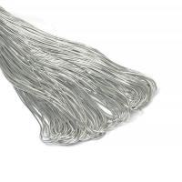 Шнур- резинка декоративная серебро